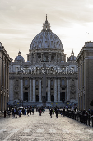 italy rome view to st peters