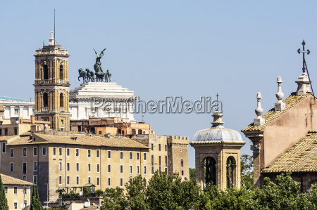italy rome city view with part