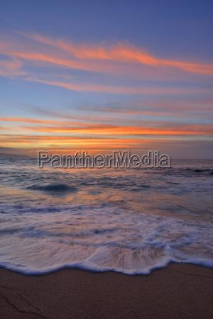 usa hawaii oahu beach by sunset