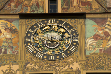 germany ulm astronomical clock at city