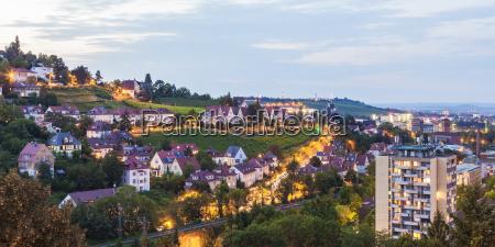 germany baden wuerttemberg stuttgart killesberg cityscape
