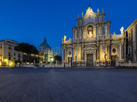 sicily catania santagata cathedral and poazza