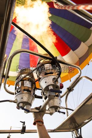 burners of a hot air balloon