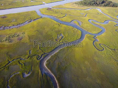 usa aerial photograph of salt water