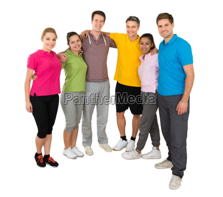 group of people standing together