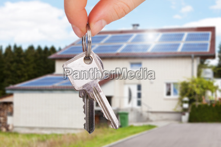 the owner holding the key of