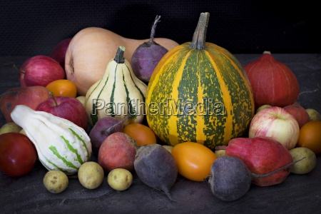various colorful vegetables