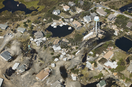usa aerial view of hurricane isabel