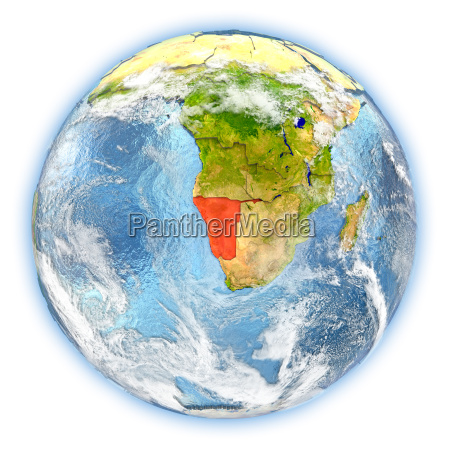 namibia on earth isolated