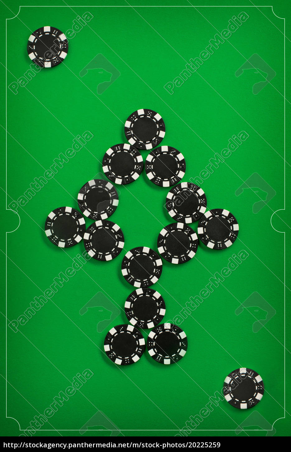 the, poker, chips, on, green, background - 20225259