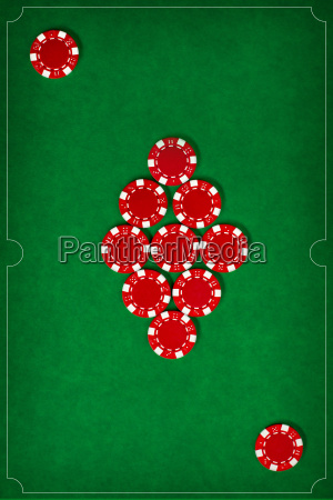 the, poker, chips, on, green, background - 20225261