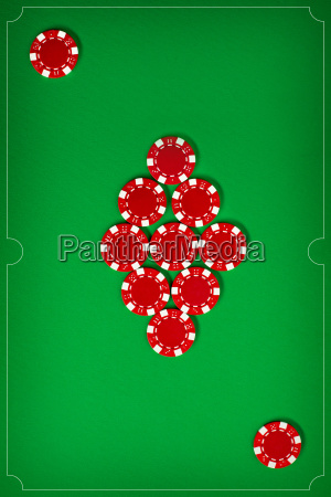 the, poker, chips, on, green, background - 20225265