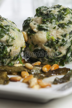 italian spinach dumplings with sage