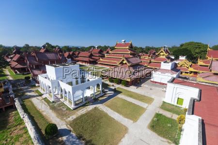 mandalay palace aerial view