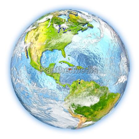 jamaica on earth isolated