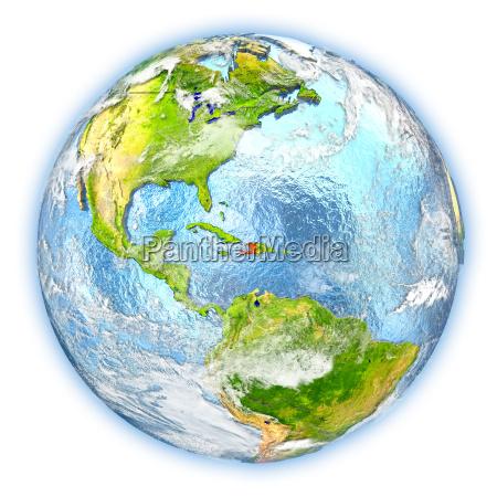 haiti on earth isolated