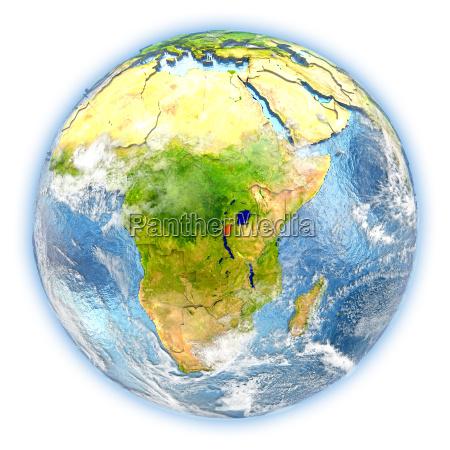 burundi on earth isolated