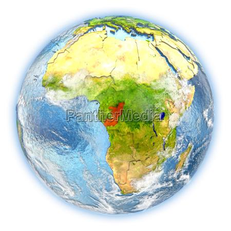congo on earth isolated