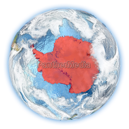antarctica on earth isolated