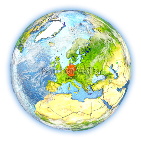 germany on earth isolated