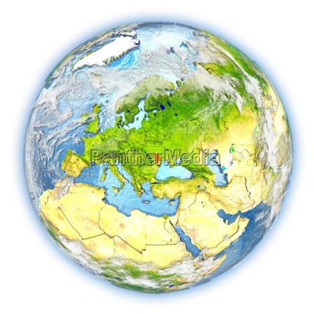 moldova on earth isolated