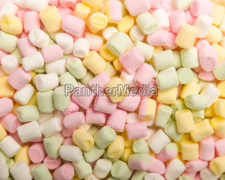 different colored marshmellows