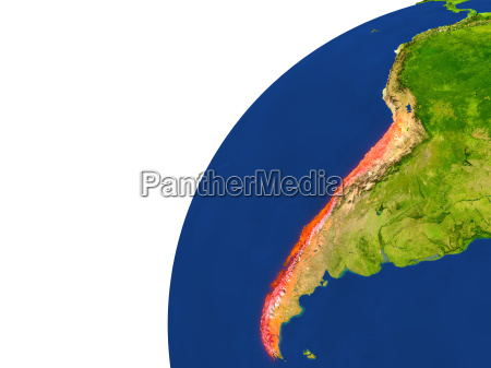 country of chile satellite view
