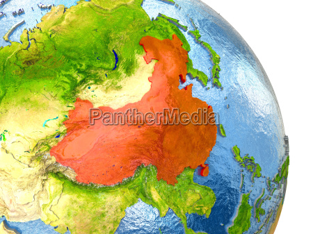 china on earth in red