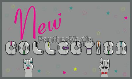 new collection unusual retro font