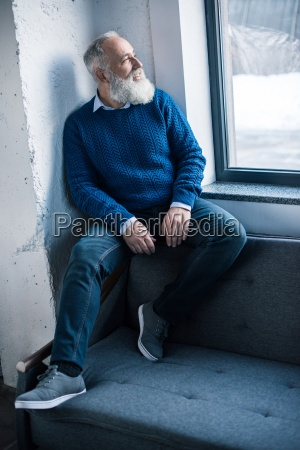 stylish senior man