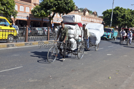 cycle rickshaws in the streets