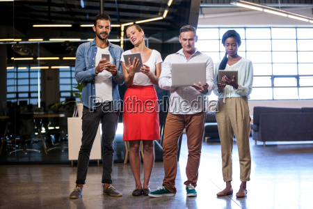 confident business team standing