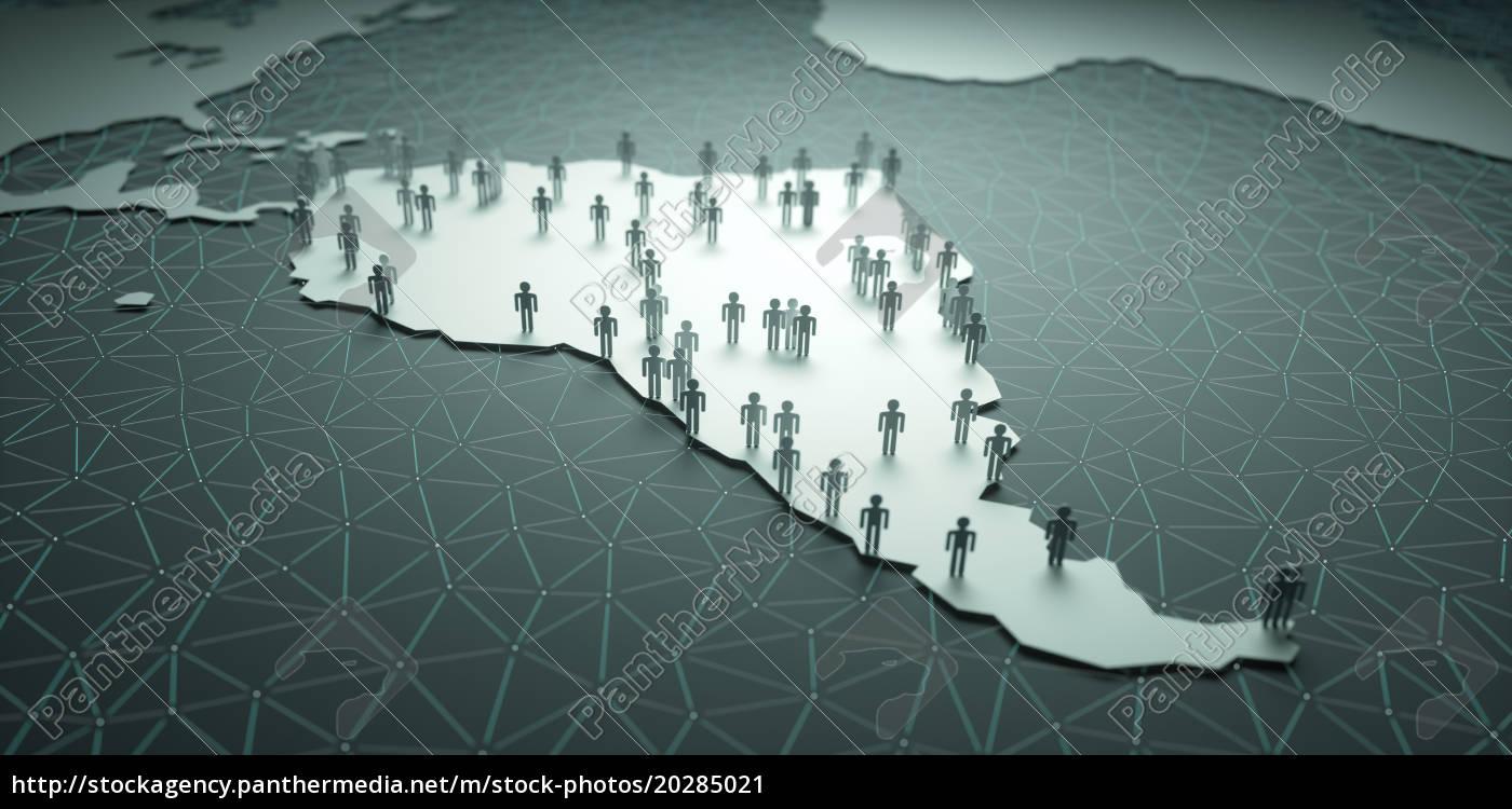 south, america, population - 20285021