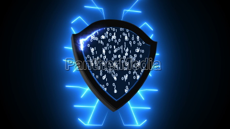 abstract background with security shield cyber