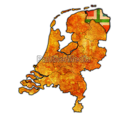 groningen on map of provinces of