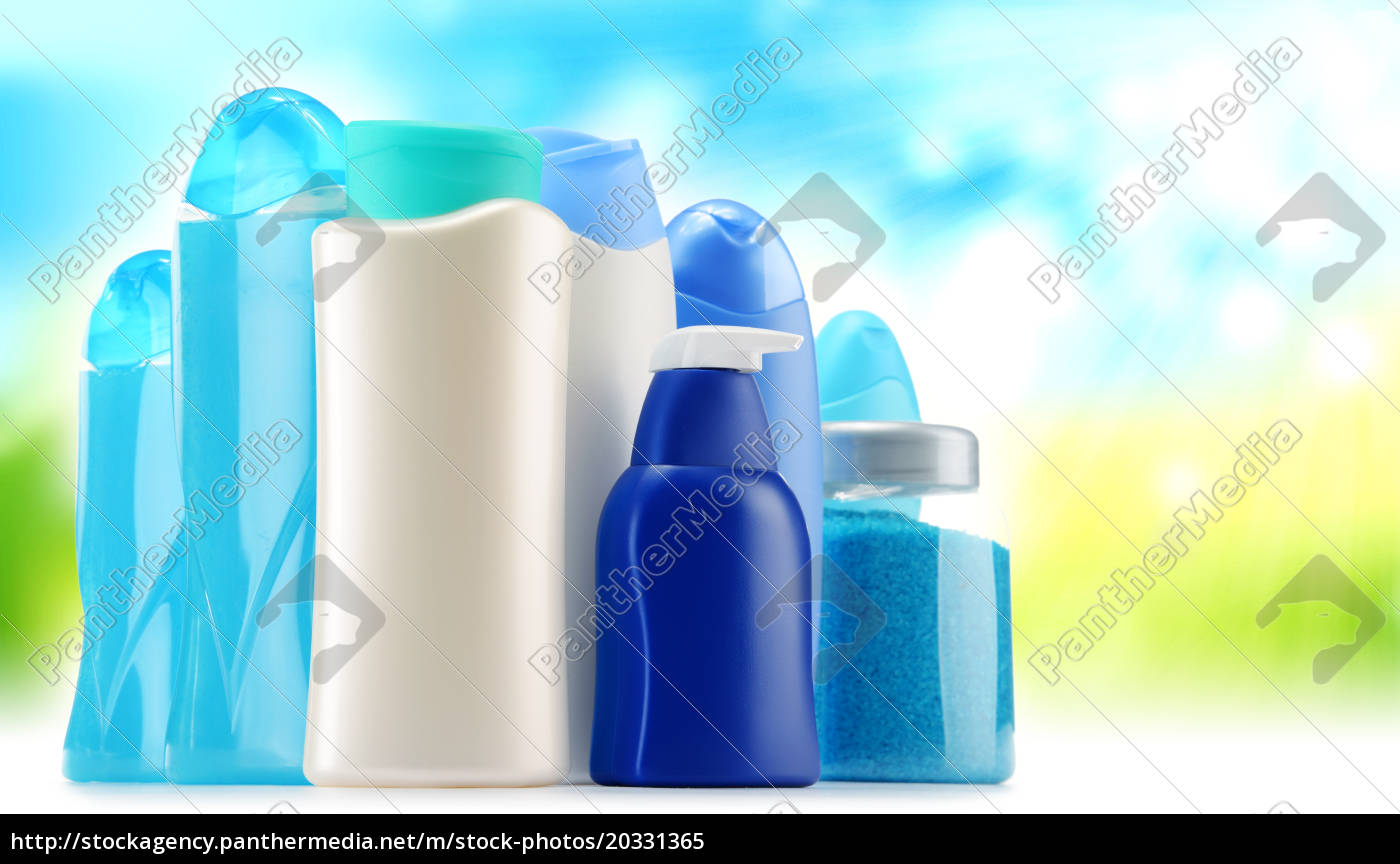 plastic, bottles, of, body, care, and - 20331365