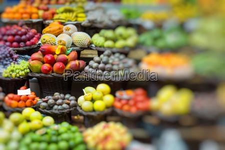 fresh exotic fruits in mercado dos