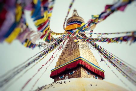 boudhanath is a buddhist stupa in