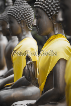 buddha statues in seema malaka temple