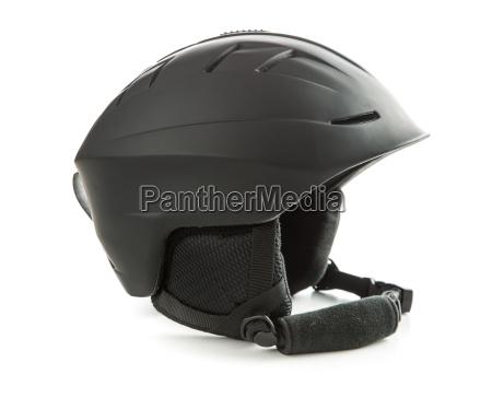 the black ski helmet