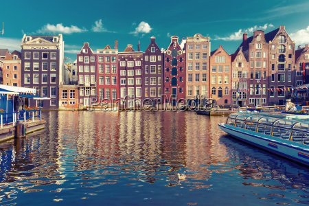 the dancing houses at amsterdam canal