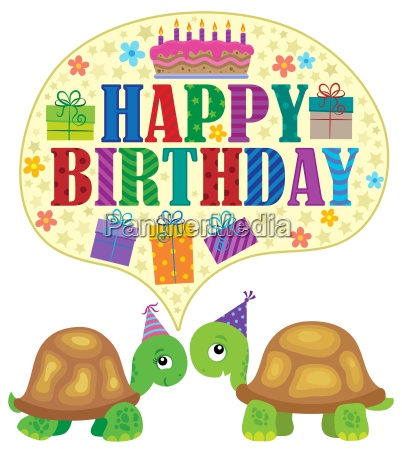happy birthday theme with turtles 1