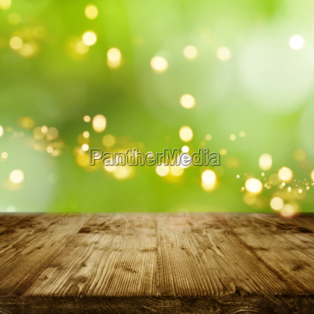 green background with bokeh and empty