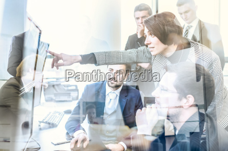 business team working in corporate office
