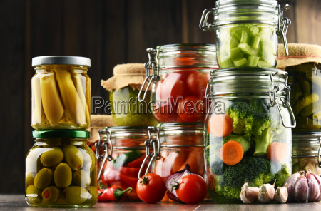 jars, with, marinated, food, and, organic - 20375971