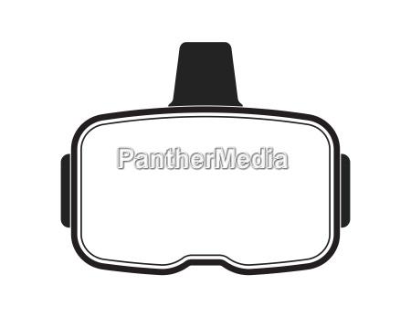 black virtual reality headset on white