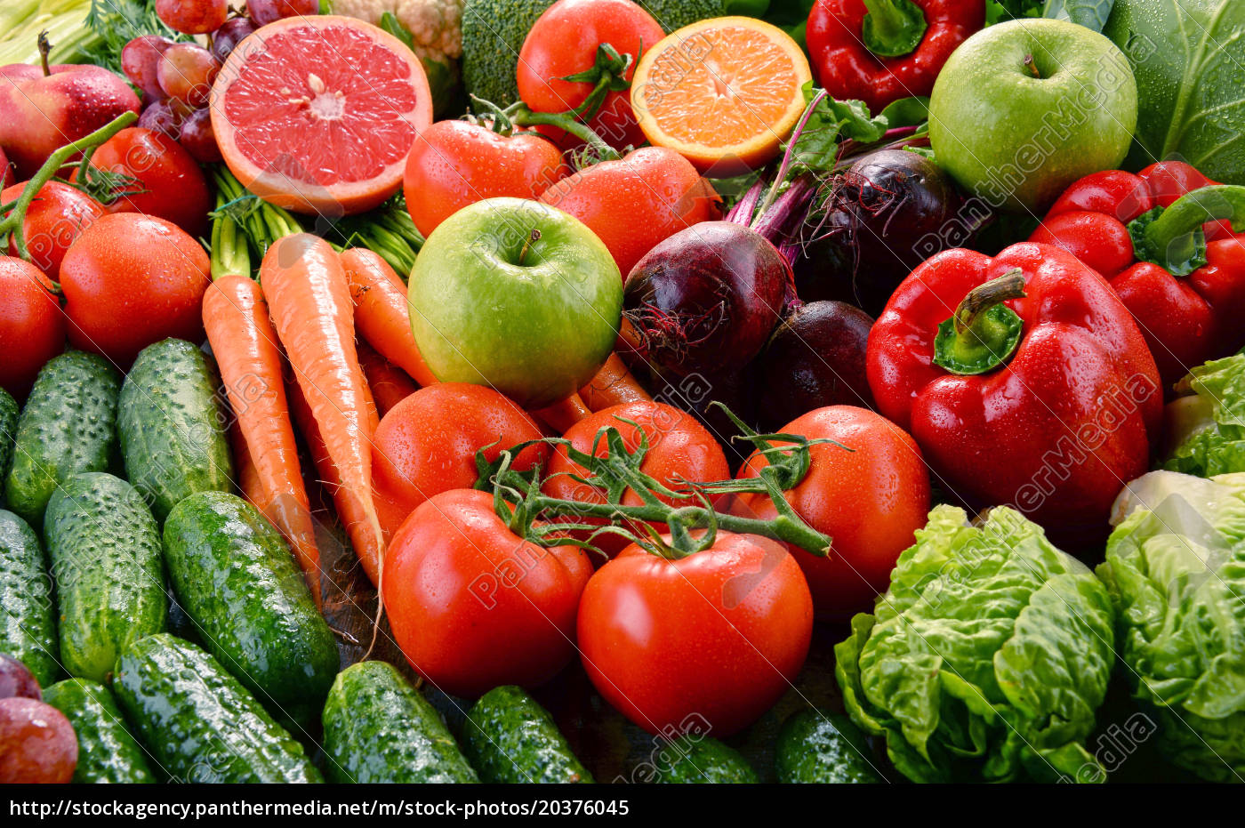 assorted, raw, organic, vegetables - 20376045