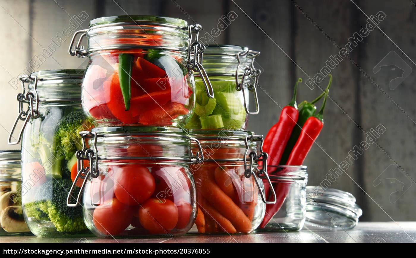 jars, with, marinated, food, and, organic - 20376055