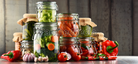 jars, with, marinated, food, and, organic - 20376061