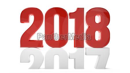 2018 2017 new year sylvester 3d